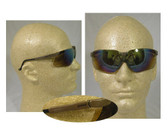 Uvex Genesis Safety Glasses ~ Earth Frame ~ Gold Mirror Lens