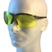 Uvex Genesis Safety Glasses ~ Earth Frame ~ Amber Lens