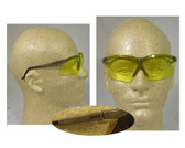 Uvex Genesis Safety Glasses ~ Earth Frame ~ Amber Lens