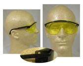 Uvex Astrospec 3000 Glasses ~ Black Frame ~ Amber Lens