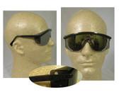 Uvex Astrospec 3000 Glasses ~ Black Frame ~ Mirror Lens