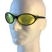 Uvex Bandit Safety Glasses ~ Black Frame ~ Amber Lens