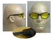 Uvex Bandit Safety Glasses ~ Black Frame ~ Amber Lens