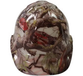 American Camo Hydro Dipped GLOW IN THE DARK Hard Hats Cap Style with Ratchet Suspensions