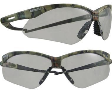 Jackson Nemesis CAMO Frame ~ Safety Glasses with Clear Anti-Fog Lens
