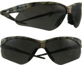 Jackson Nemesis CAMO Frame ~ Safety Glasses with Smoke Anti-Fog Lens
