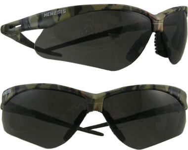 Jackson Nemesis CAMO Frame ~ Safety Glasses with Smoke Anti-Fog Lens