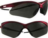 Jackson Nemesis INFERNO Safety Glasses ~ Red Frame, Smoke Lens