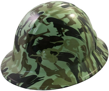 Bootie Girl Light Green Hydro Dipped Hard Hats Full Brim Style