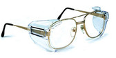 Universal Side Shields ~ Clear Tint Lens ~ For Larger Glasses