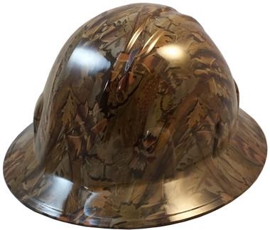 Confederate Camo Hydro Dipped Hard Hats Full Brim Style ~ Oblique View
