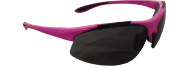 """Ella"" ~ Pink Safety Glasses ~ Smoke Lens"