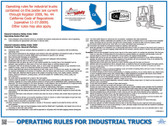 California State Labor Law Posters ~ (California Forklift Poster)  pic 1