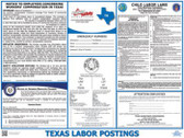 Texas with  Workers Compensation State Labor Law Posters