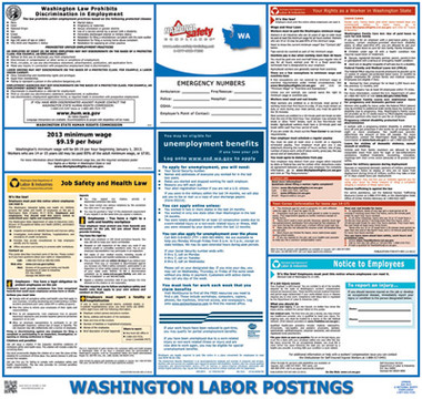 Washington Self-insured State Labor Law Posters