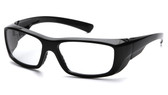 Pyramex Emerge ~ Standard Glasses ~ Black Frame ~ Clear Lens