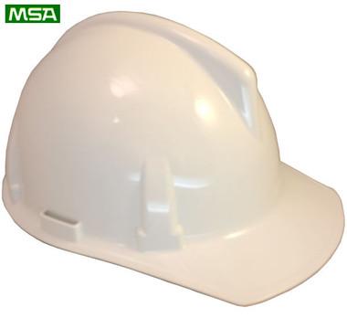 MSA Topgard Protective Caps ~ White  ~ Right Side View