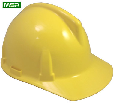 MSA Topgard Protective Caps ~ Yellow  ~ Right Side View
