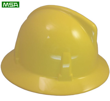 MSA Topgard  ~ Yellow  ~ Right Side View