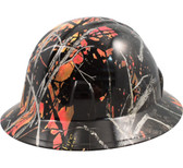 Wildfire Camo Hydro Dipped Hard Hats Full Brim Style