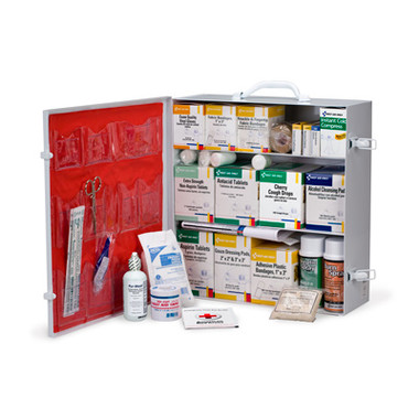 3 Shelf Industrial Station ~ 1041 Piece, Metal Cabinet with 12 Pocket Vinyl Liner