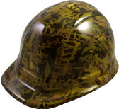 Oilfield Camo Yellow Hydro Dipped Cap Style Hard Hat pic 1