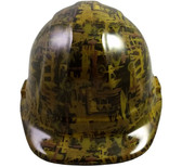 Oilfield Camo Yellow Hydro Dipped Hard Hats Cap Style