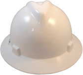 MSA V-Gard Full Brim Hard Hats with Staz On Suspensions White