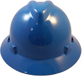 MSA V-Gard Full Brim Hard Hats with Staz-On Suspensions Blue