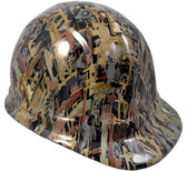 Oilfield Camo White Hydro Dipped Hard Hats Cap Style