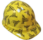 Don't Tread on Me Yellow Hydro Dipped Hard Hats Cap Style