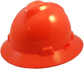 MSA V-Gard Full Brim Hard Hats with One-Touch Suspensions Standard Orange