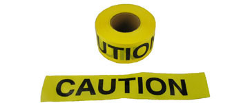 Barrier Tape Caution Yellow 3 inch x 1000 Foot Rolls Pic 1