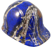 Mothwing Blue Hydro Dipped Hard Hats Cap Style