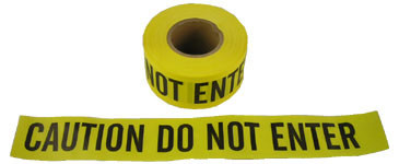 Barrier Tape Caution Do Not Enter Yellow 3 Inch Rolls Pic 1