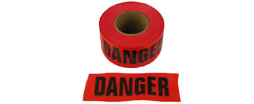 Barrier Tape Danger Red 3 inch x 1000 Feet Rolls Pic 1