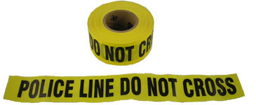 Barrier Tape Police Line Do Not Cross 1000 Foot Rolls Pic 1