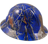 Mothwing Blue Hydro Dipped Hard Hats Full Brim Style