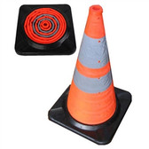 28 Inch Pack and Pop Incident Cones With Light (Single)