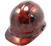 Hades Skull Red Hydro Dipped Hard Hats Cap Style