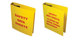 3 Inch MSDS Binders English Language Pic 1