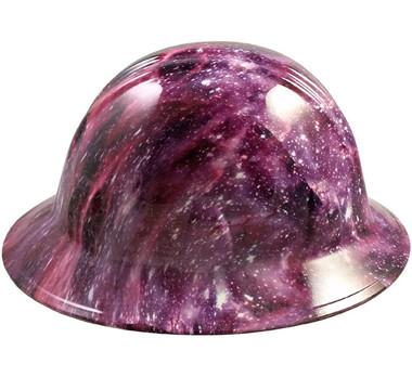 Galaxy Design Hydro Dipped Hard Hats Full Brim Style