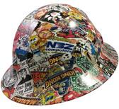 Sticker Bomb 4 Design Hydro Dipped Hard Hats Full Brim Style