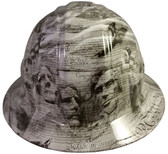 United We Stand Design Hydro Dipped Hard Hats Full Brim Style