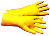 Latex Flock Lined 18 Mil Glove w/ 12 Inch Length Pic 1
