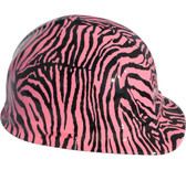 Zebra Pink Hydro Dipped Cap Style Hard Hat pic 1