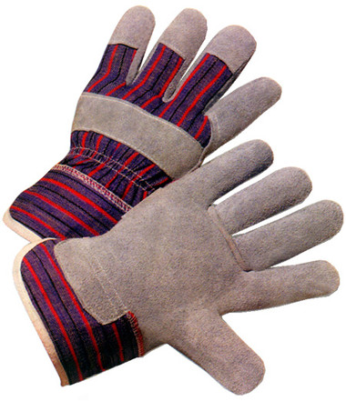 Economy Leather Palm Gloves w/ Open Cuffs Pic 1