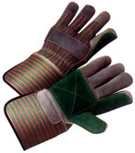 Double Palm Leather Gloves w/ Gauntlet Cuffs Pic 1