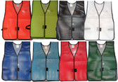 Economy PVC Coated Soft Mesh Safety Vests (All Colors)