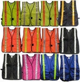 Economy Soft Mesh Safety Vests with Stripes